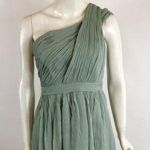 J.Crew SZ 6 Sage silk crepe dress!